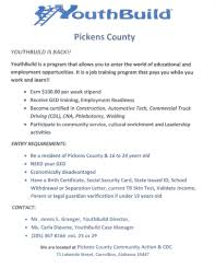 youth projects pickens county community action committee and