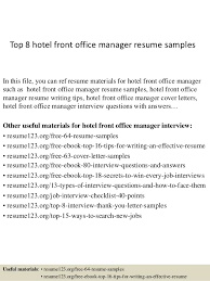 sample hotel front office manager 14 dental front office manager