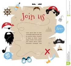 Party Invitation Cards Designs Pirate Party Invitation Card Design Vector Illustration Stock