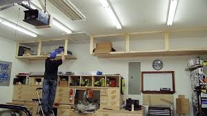 Wooden Storage Shelves Diy by Diy Garage Storage Shelves To Maximize Space Diy Projects