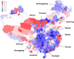 Chongqing China Map by Maps China U0027s Internal Migration