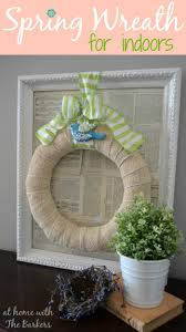 Blue Bird Home Decor Natural Spring Wreath At Home With The Barkers