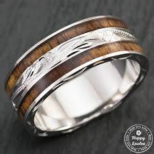 engraved sterling rings images Sterling silver hand engraved hawaiian jewellery ring with jpg