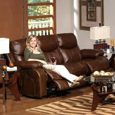 Top Grain Leather Sofa Recliner Burgundy Leather Power Reclining Sofa Low Melt Fiber Wrapped