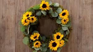 sunflower wreath easy diy sunflower wreath southern living