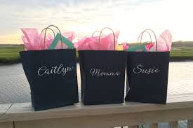 bridesmaids bags set of 4 custom gift bags with names or monograms personalized