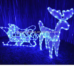Electric Reindeer Christmas Decorations by Outdoor Christmas Lights Reindeer And Sleigh Outdoor Christmas