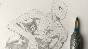 how to draw spiderman comic book style youtube