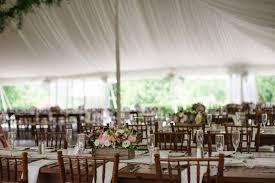 Reception Décor s Rustic Wedding Reception in Tent Inside