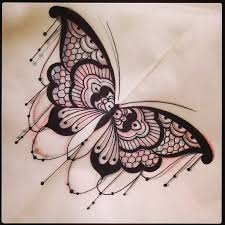 awesome lace butterfly design by dom