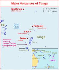 tonga map global volcanism program hunga tonga hunga ha apai