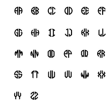 initial fonts for monogram monogram styles fonts