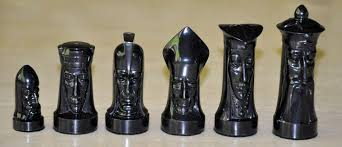 sculptured gothic chess set by ganine www chessantiques com