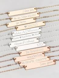 personalized bar necklace gold personalized bar necklace gold gold or silver states studios