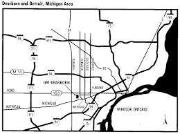 Camp Dearborn Map Birding Sites In Southeast Michigan And Vicinity