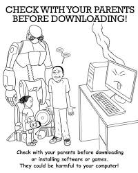 internet safety coloring book coloring home
