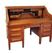 Secretary Style Computer Desk by Antique Globe Wernicke S Style Oak Roll Top Desk Ebth