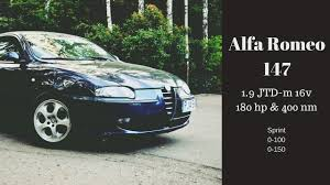 alfa romeo 147 1 9 jtd 16v chip 0 100 u0026 0 150 youtube