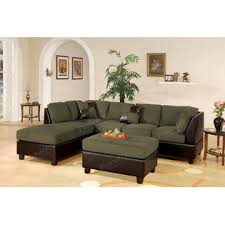 Microfiber Sectional Sofa With Chaise by Poundex Sectional Couch Sectional Sofa Microfiber Sectional Living