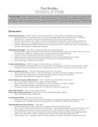 Stage Manager Resume Template Executive Director Resume Executive Director Cover Letter Free