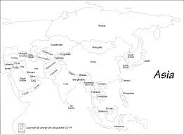 printable map of asia with countries and capitals printable outline maps of asia for stuning map with countries