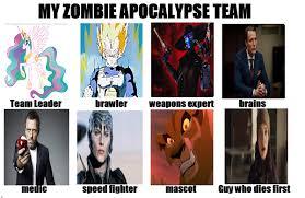 Zombie Team Meme - my zombie apocalypse team by ssj4truntanks on deviantart