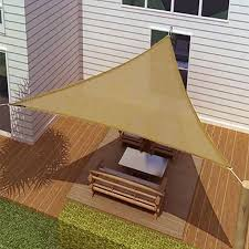 16 5 u0027 triangle sun shade sail canopy sand for the home