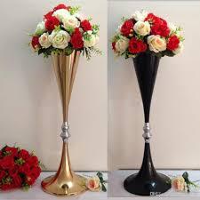 70cm Vase 70cm Height Gold Black Metal Wedding Centerpiece Flower Shelf