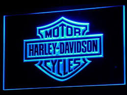 harley davidson lighted signs harley davidson led sign vintagily