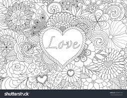 hearts flowers coloring pages coloring pages