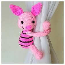 Where To Buy Curtain Tie Backs 1 Piglet Curtain Tie Back Crochet Tie Back Made To