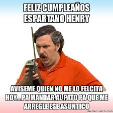 Henry Meme - cumpleaños espartano henry