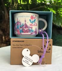 mug ornament disneyland starbucks you are here fantasyland 2 oz mug