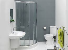 Door Ideas For Small Bathroom Interior Beautiful White Theme Small Bathroom Using Chrome Frame