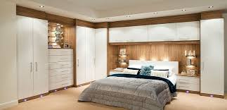Glossy Contemporary White Fitted Bedroom Furniture Built In - Built in wardrobe designs for bedroom