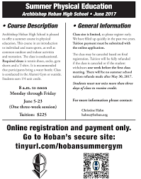 online pe class high school archbishop hoban hs summer physical education