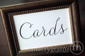Wedding Reception Cards Cards Wedding Reception Card Table Sign Thin Style