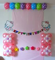 Outstanding Happy Birthday Decoration At Room Neabuxcom - Birthday decorations at home ideas