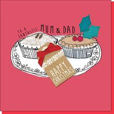 to a fantastic mum and dad christmas card karenza paperie
