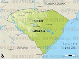 map us south geoatlas united states canada south carolina map city
