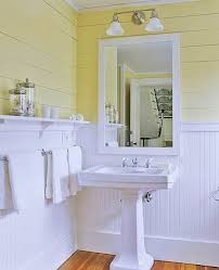 Bathroom Wood Paneling Yellow White Bathroom 2017 Grasscloth Wallpaper