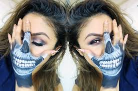 Halloween Skull Face Makeup by How To Skull Hand Face Makeup Tutorial Youtube