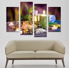 Home Decoration Art Aliexpress Com Buy 4 Rectangular Canvas Painting Home Decoration