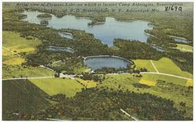 Lake Pleasant Map Aerial View Of Pleasant Lake On Which Is Located Camp Aldersgate