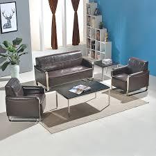 fauteuil canapé meubles de bureau en cuir couleur café beige et noir fauteuil