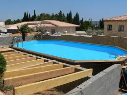 amenagement autour piscine hors sol terrasse bois piscine hors sol cool ide piscine hors sol et