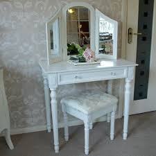 arabella range ivory dressing table with triple mirror and stool