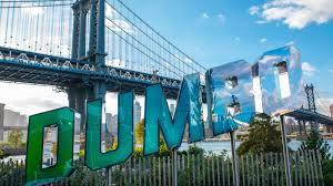 flashy functional sign celebrating dumbo arrives brooklyn