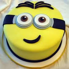 yellow minion cake 1kg vanilla gift despicable me cartoon cake