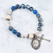 rosary bracelet teresa rosary bracelet the catholic company the holy